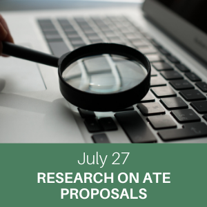 webchat, july 27, research on ate proposals