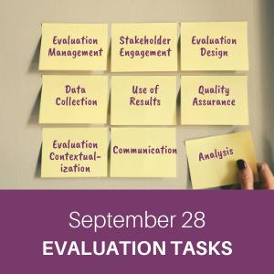 webchat, september 28, evaluation tasks